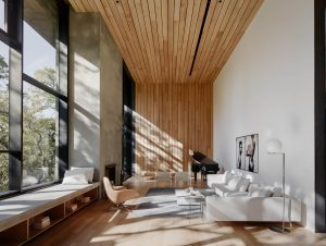 Living | Miner Road Living Room by Faulkner Architects
