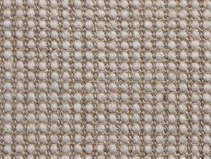 Belgian Platinum Lattice Wool and Sisal Rug