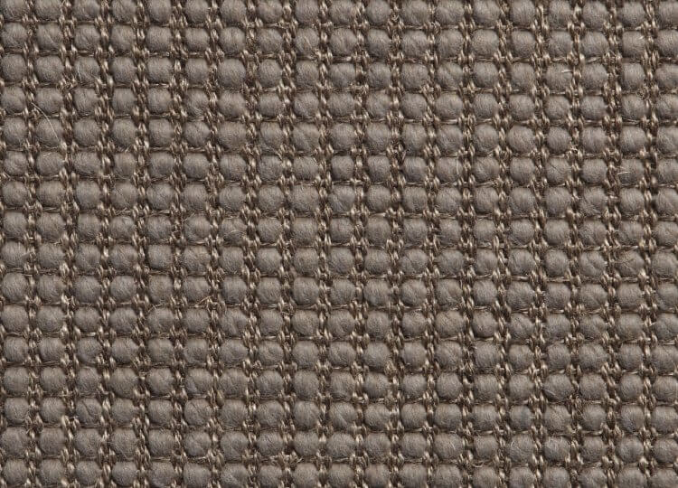 Belgian Molten Grey Lattice Wool and Sisal Rug