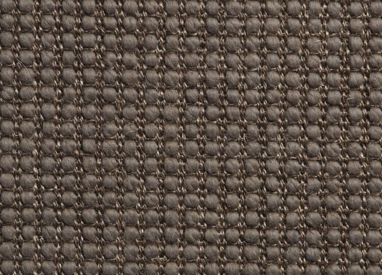 Belgian Molten Grey Lattice Wool and Sisal Carpet