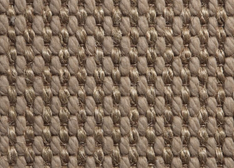 Belgian Silver Basquette Wool and Sisal Carpet