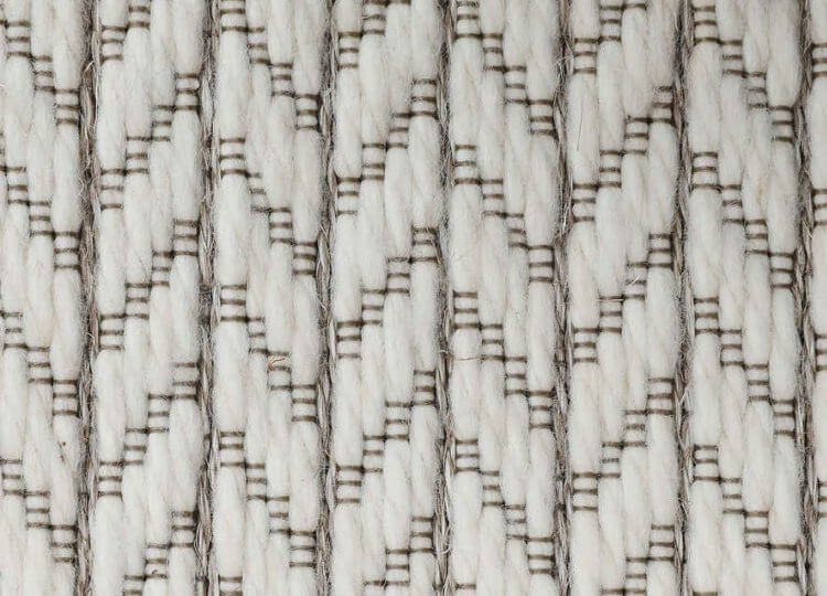 Belgian White Chevron Wool and Sisal Carpet