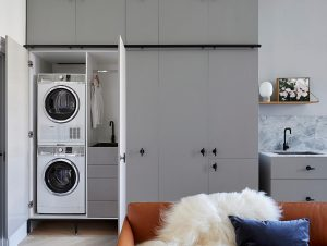 Laundry | Compact Apartment Laundry by Sarah Wolfendale
