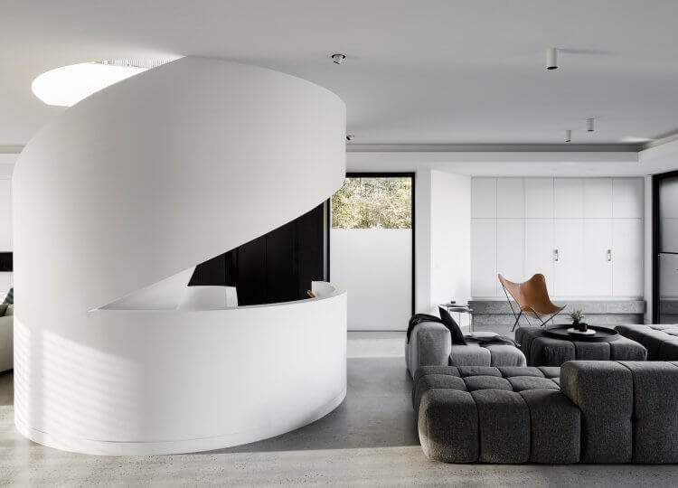 Living 2 | Oreo House Living Room by Taylor Pressly and CLP Architecture