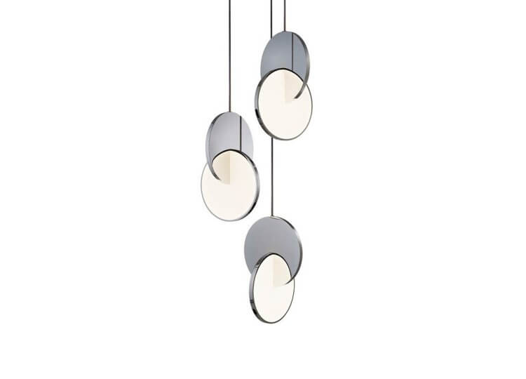 Lee Broom Eclipse Chandelier 3 Piece – Polished Chrome