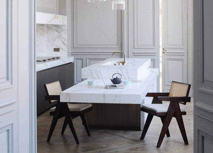 Kitchen | Parisian Apartment by Joseph Dirand