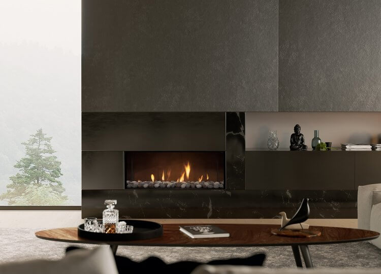 Escea DS1150 Gas Fireplace (Single Sided)