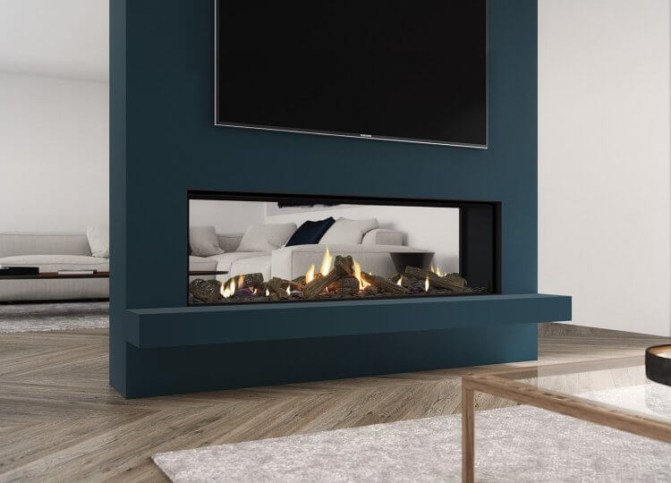 Escea DS1400 Gas Fireplace (Double Sided)