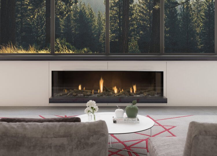 Escea DS1650 Gas Fireplace (Single Sided) Stoke