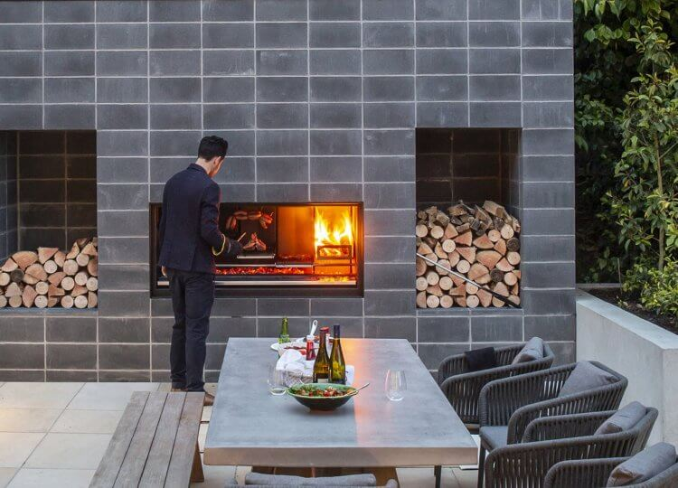 Escea EK1250 Outdoor Fireplace Kitchen