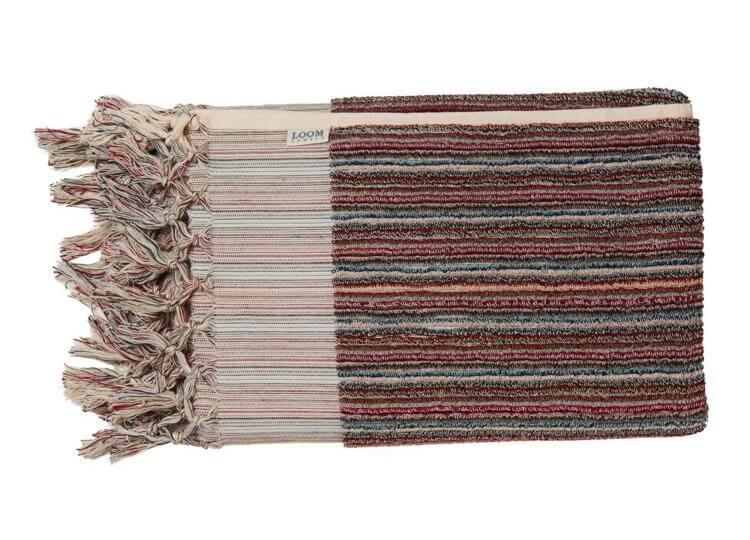 Berry Stripe Bath Towel Loom Towels