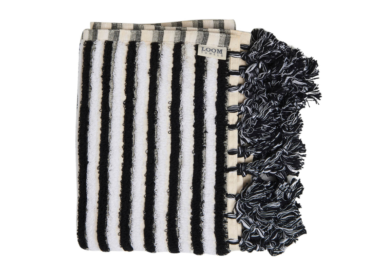 Loom Black And White Stripe Bath Mat Est Living Design Directory