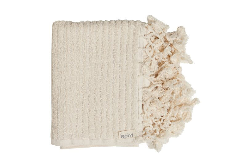 Loom Ecru Bath Mat Loom Towels