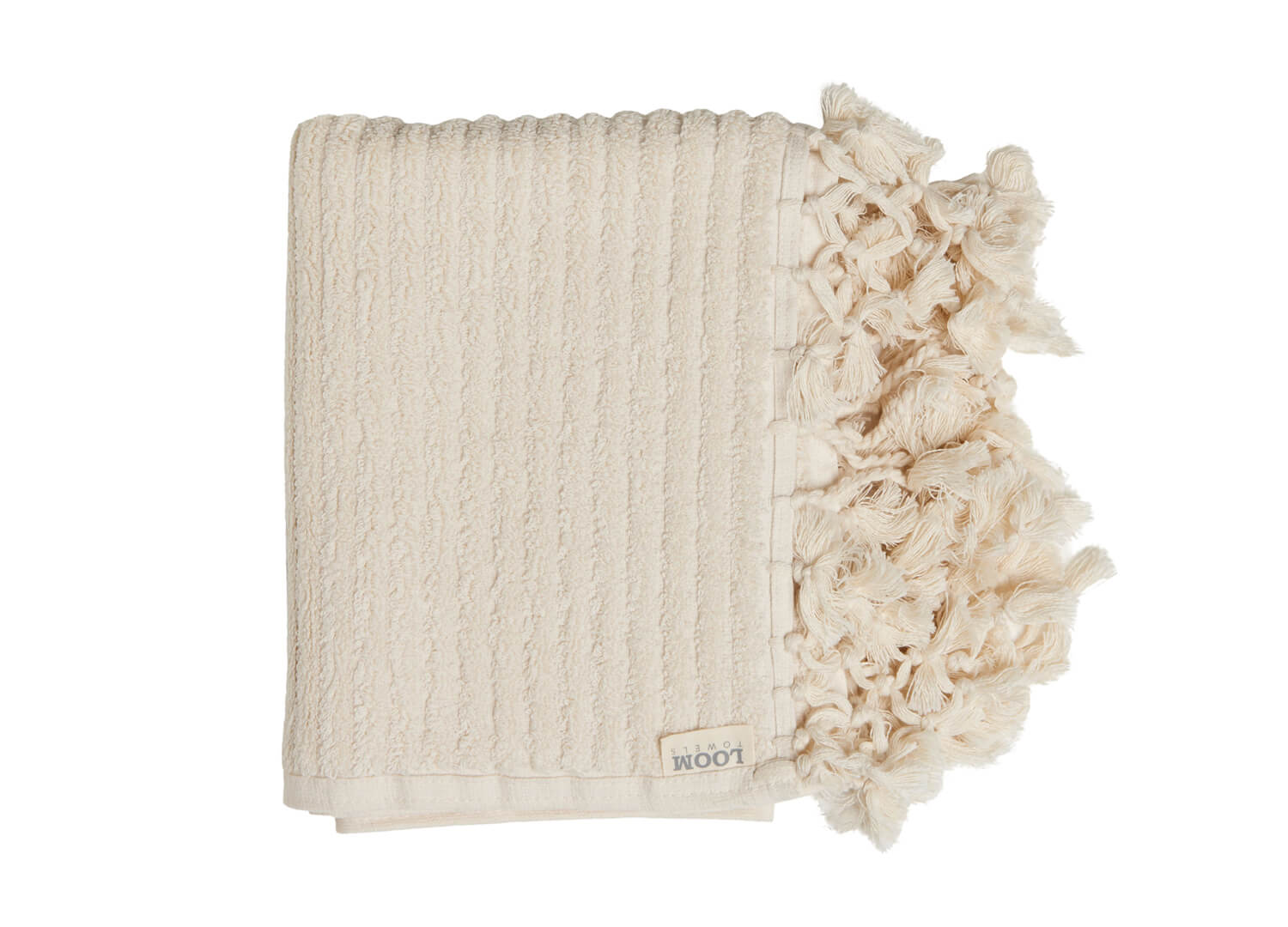 est living loom towels ecru bath mat 01