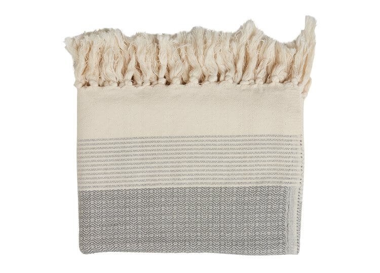 Loom Geo Pestamal Grey Towel | Loom Towels