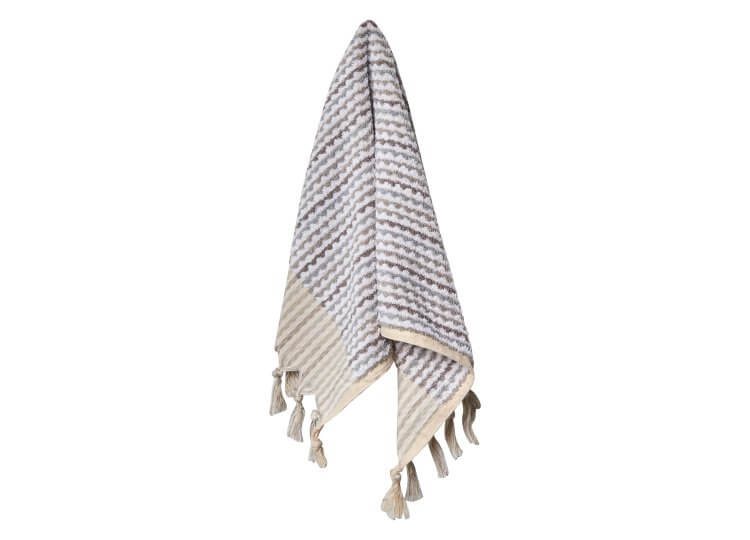 Loom Grey and White Wave Hand Towel