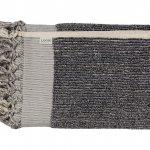 Loom Navy and Cream Stripe Bath Towel
