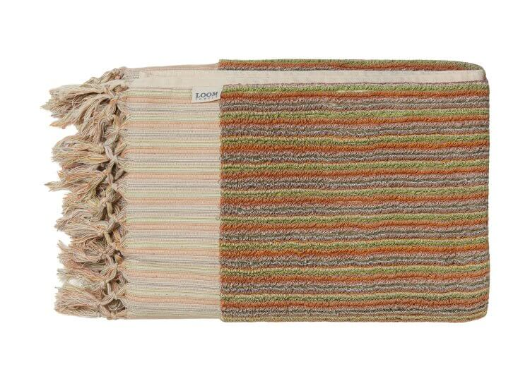 Sand Dune Stripe Bath Towel Loom Towels
