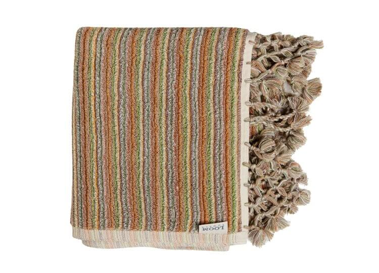 Sand Dune Stripe Bath Mat Loom Towels