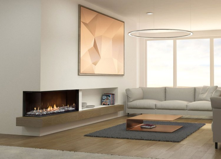 Mode Corner Gas Fireplace for Stoke