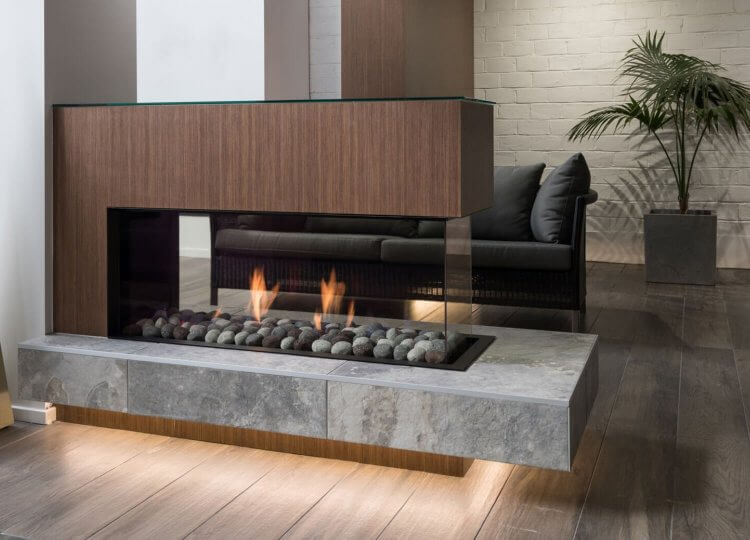 Mode Peninsula Gas Fireplace Stoke