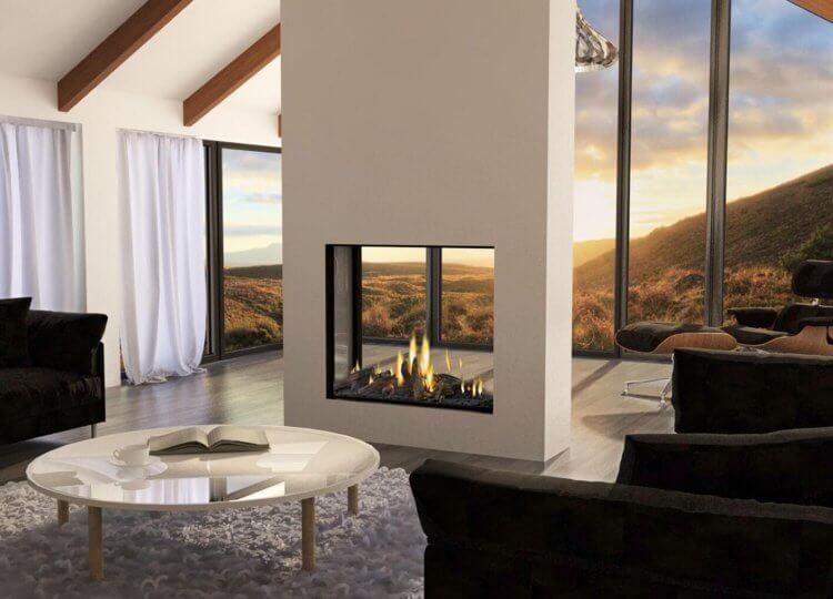 Mode Tall Gas Fireplace (Double Sided) Stoke