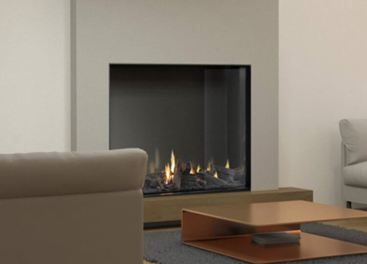 Mode Tall Gas Fireplace (Single Sided) Fireplace Stoke