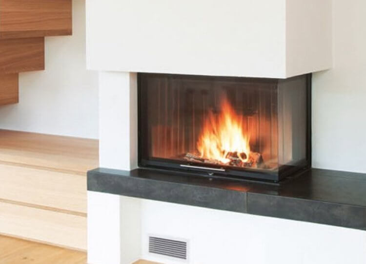 Spartherm Corner Wood Fireplace
