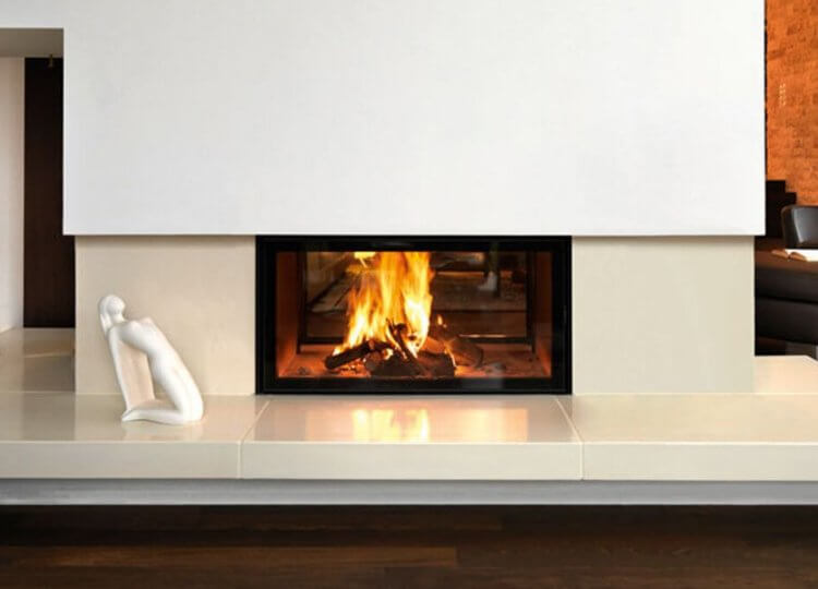 Spatherm Wood Fireplace (Double Sided) Stoke