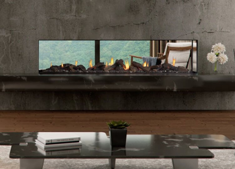 Escea DS1900 Gas Fireplace (Double Sided) Stoke