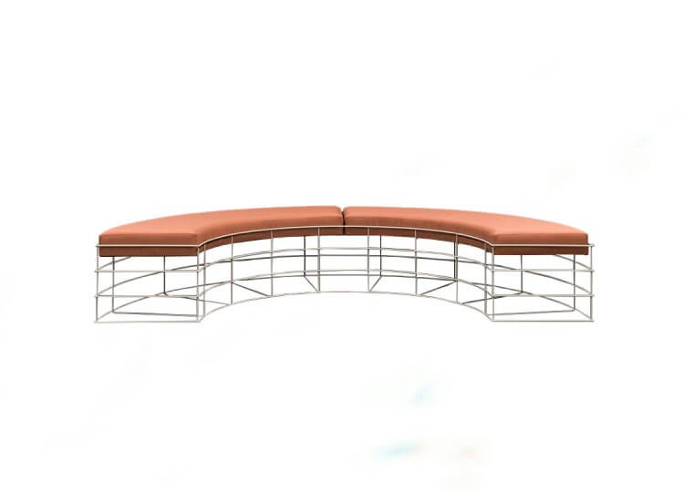 Ellis Curved Outdoor Bench