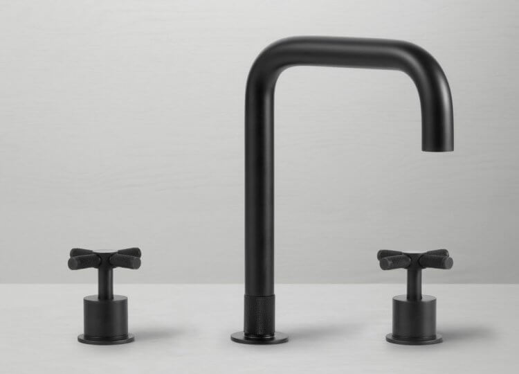 Tura Bench Mounted Cross Design Basin Tap Pittella