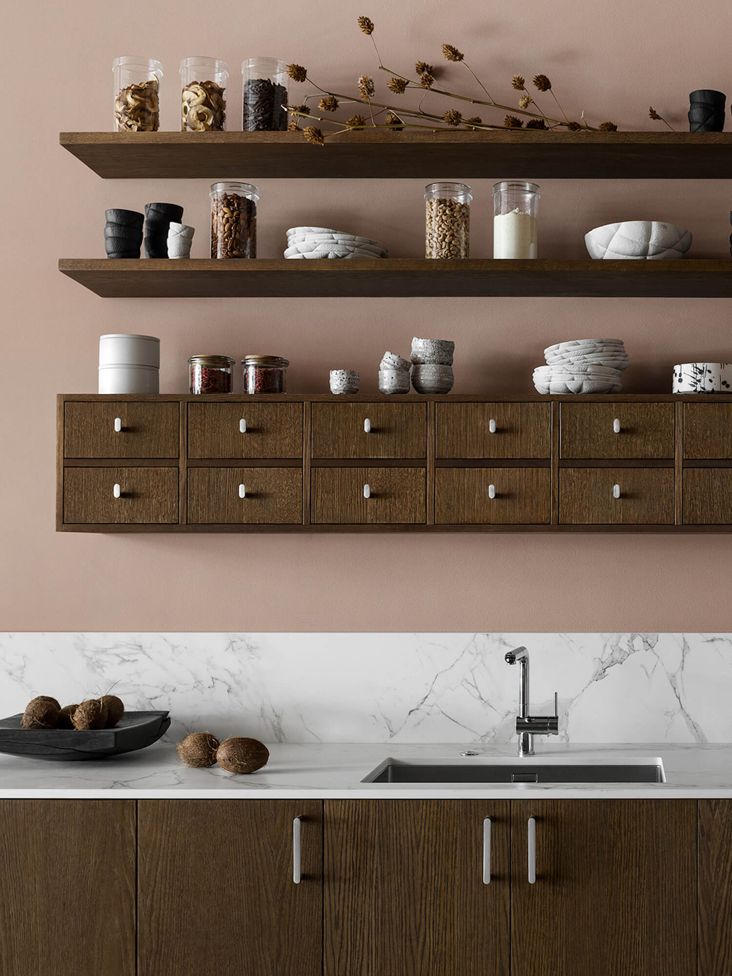est living nordic style kitchen nordiska kok food pharmacy shelf