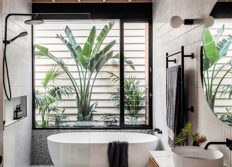 Bathroom | Silhouette Hytte Elwood Bathroom by FIGR Architecture Studio