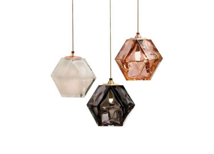 Gabriel Scott Welles Double Blown Glass Pendant Est Lighting