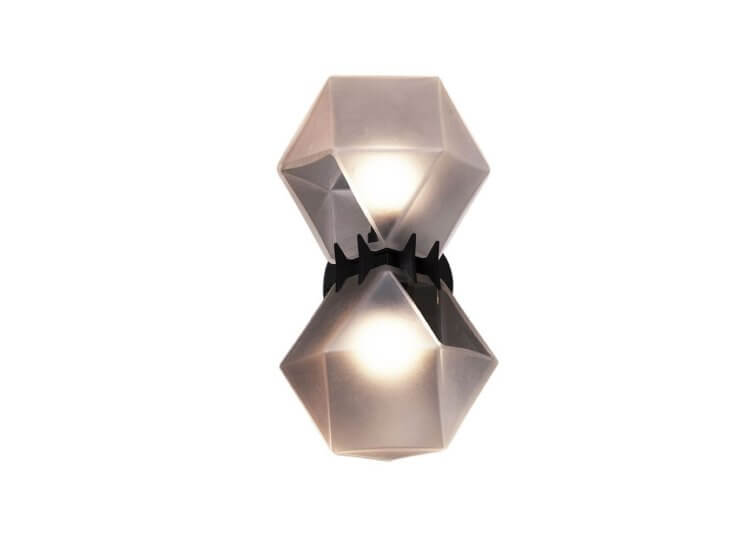Gabriel Scott Welles Glass Double Wall Sconce Est Lighting