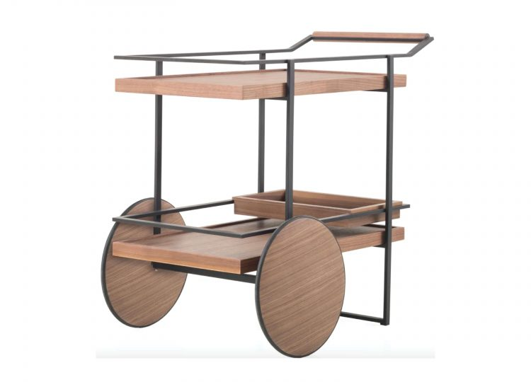 James Bar Cart in Steel