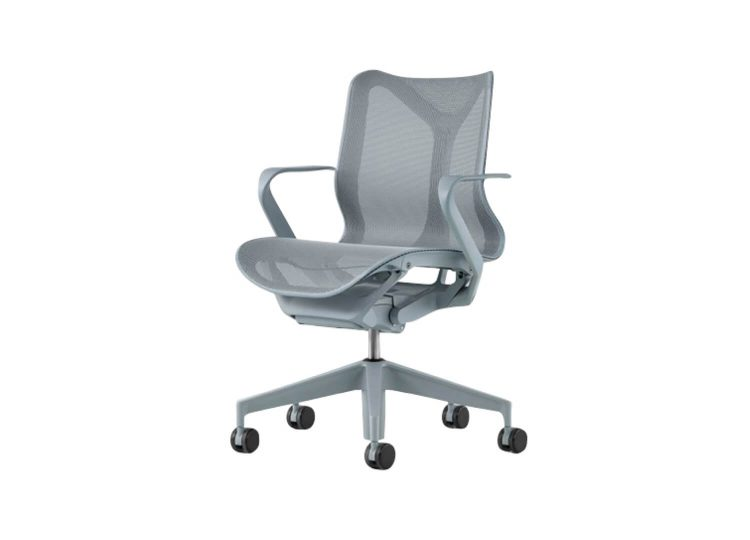 est living cosm work chair with low back fixed arms glacier 04 750x540