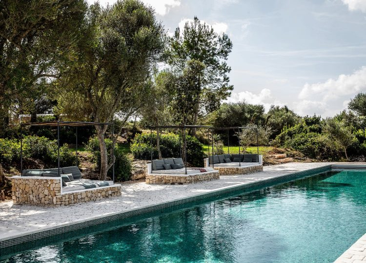 Pools & Pool Pavilions | The Finca Es Bec d'Aguila Pool by Atelier Du Pont