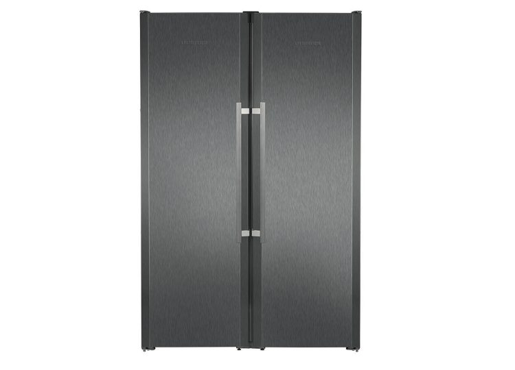 Liebherr BlackSteel Side by Side Fridge
