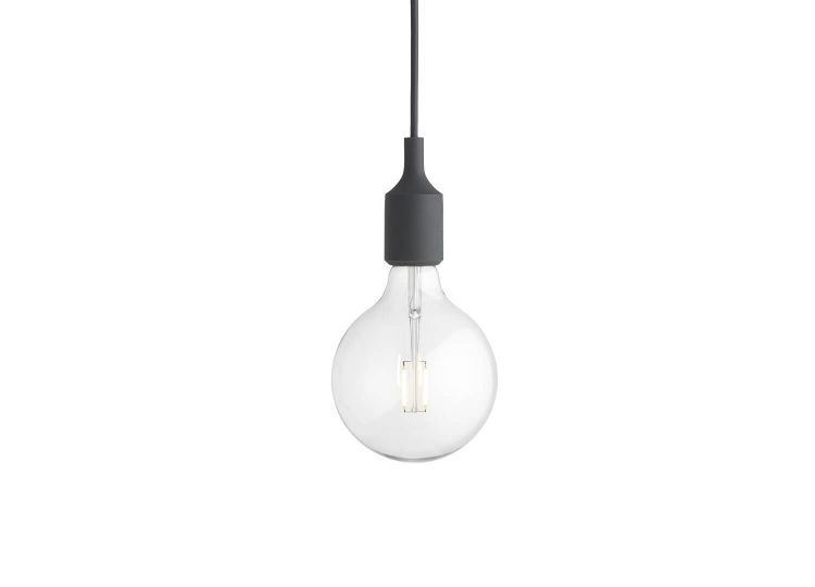 E27 Pendant Light in Black