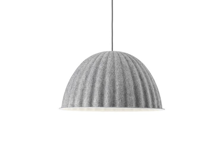 Under the Bell Pendant Lamp in Grey