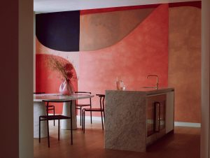 Kitchen | Roksanda Penthouse Kitchen by Artist Caroline Denervaud