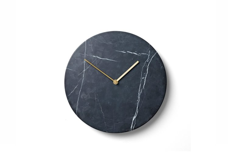 Menu Black Marble Wall Clock