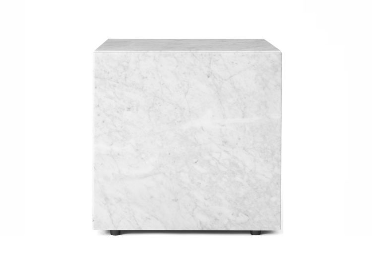 Menu Cubic White Marble Plinth