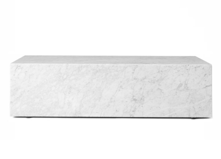 Menu Low White Marble Plinth