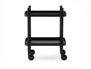Normann Copenhagen Block Mobile Side Table (Black/Black)