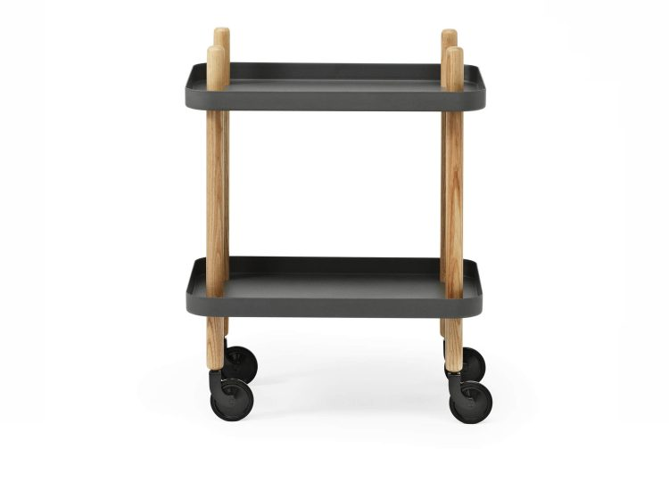 Normann Copenhagen Block Mobile Side Table (Dark Grey)