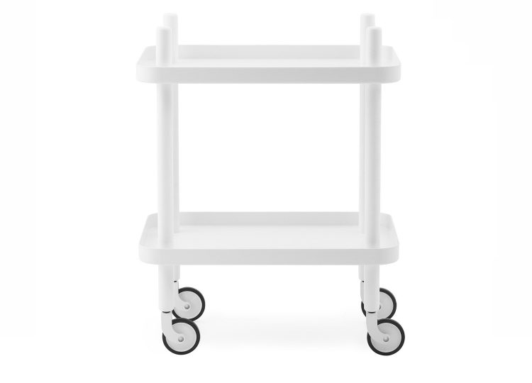 Normann Copenhagen Block Mobile Side Table (White/White)