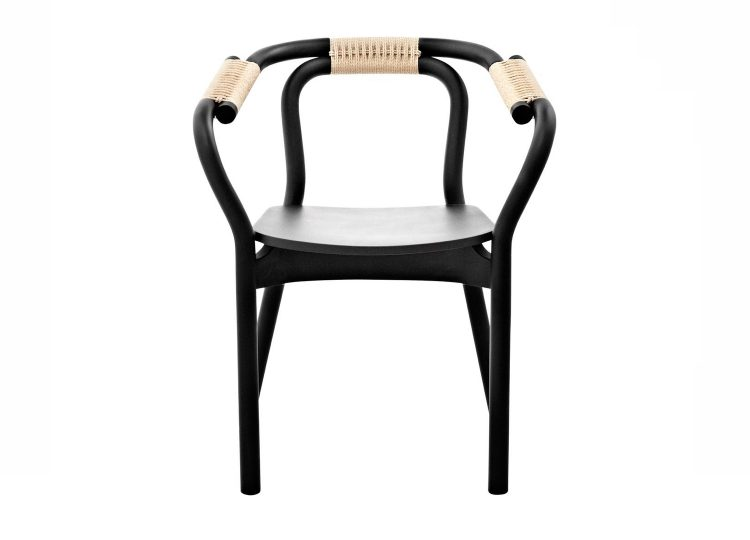 Normann Copenhagen Black/Natural Knot Chair